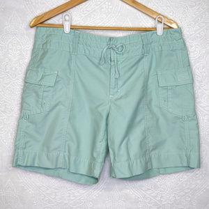 Athleta | Shorts green cargo hiking long shorts 12